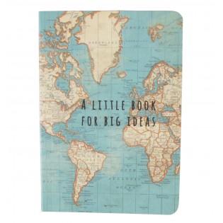 Pocket Notebook Vintage Map