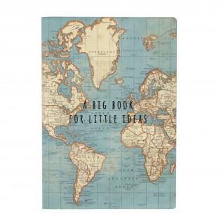 Notebook Vintage Map