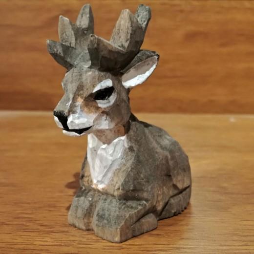 Wooden Handmade Sharpener - reindeer