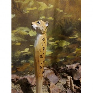 Wooden handmade pens in the form of animals