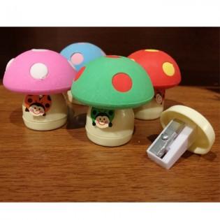 Sharpener & Eraser mushroom