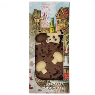 Milk chocolate & 2d chocolate mushrooms