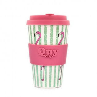 Bamboo cup - Flamingo