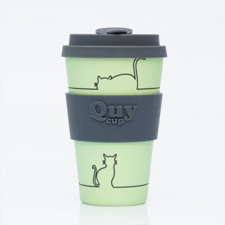 Bamboo cup - Cat Green