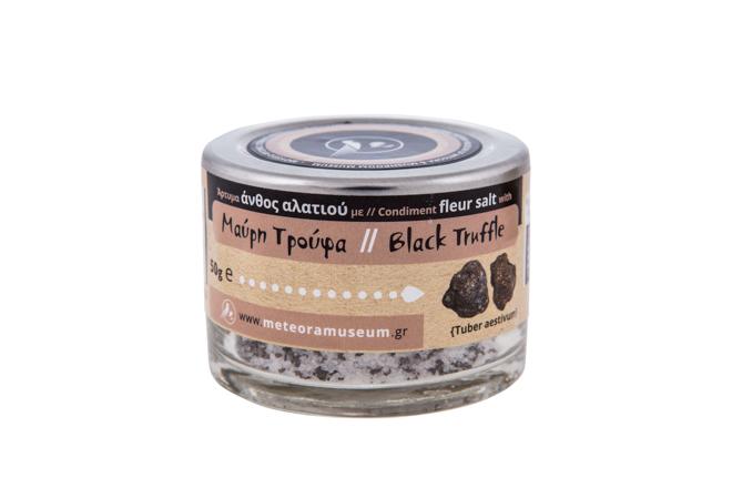 Ανθός αλατιού με μαύρη τρούφα