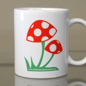 Λευκή κούπα amanita muscaria - διακοσμητικά δώρα