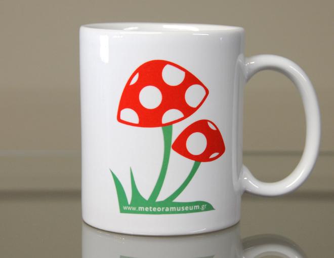 Λευκή κούπα amanita muscaria – διακοσμητικά δώρα